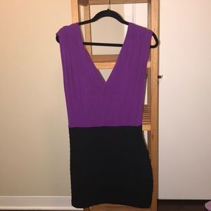 Express purple bandage dress size Small